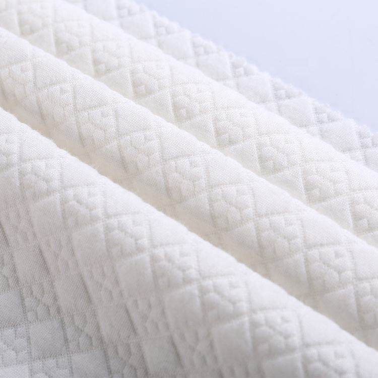 Best selling padding jacquard polyester spun fabric yarn fabric for quilt