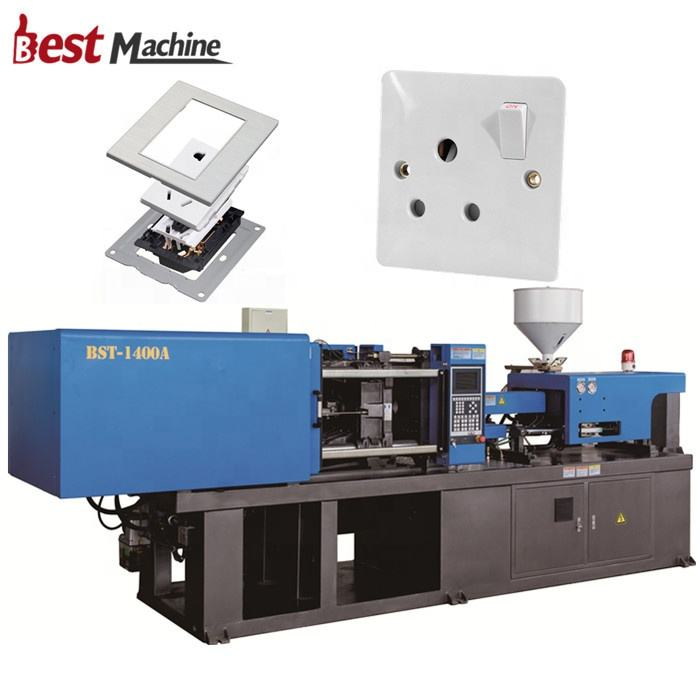 BST-1400A Plastic Electric Switch and Socket Plug Making Manufacturing Production Injection Molding Machine