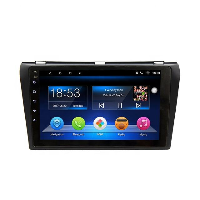9 Inch Quad Core Android 8.1 Car Built-in Gps Navigation Bt Wifi Video For 2006-2012 Mazda 3