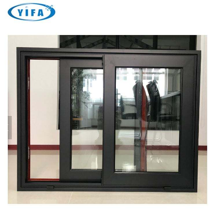 Energy saving heavy duty double glazed aluminum sliding window, aluminium Windows doors