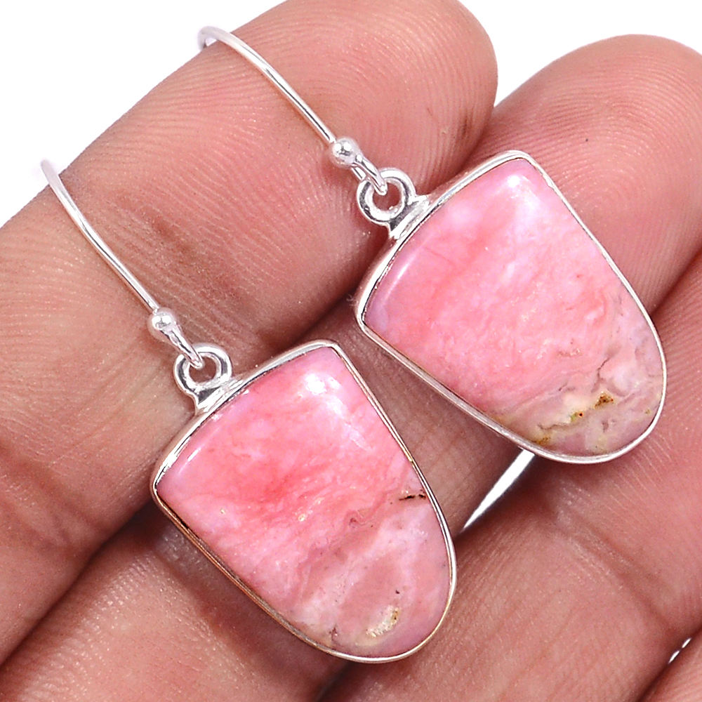 Peruvian Pink Opal Authentic Handcrafted High Grade bulk Jewelry manufacturer Earrings For Girls