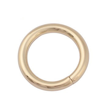 wholesale 31.74 mm iron wire clasp manufraturer for handbag hardware accessories nickel-free light gold color o-rings