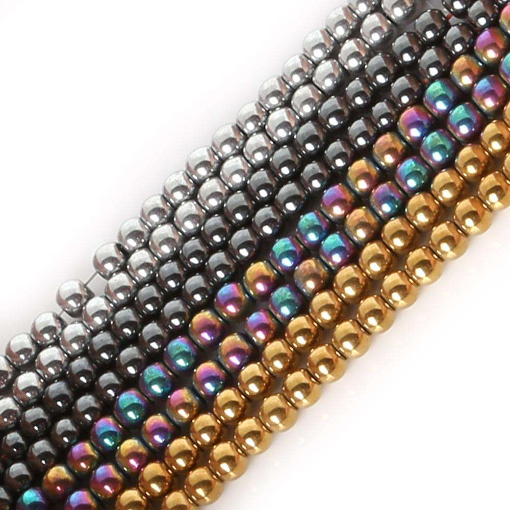 High Quality Custom Stone Black Hematite Beads Round Loose Beads Natural Stone Beads For Jewelry Making
