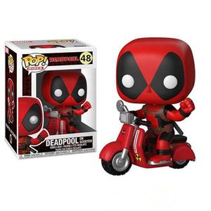 Funko Pop Daedpool on Scooter Marvel 10cm X-MAN Cute Vinyle Figure Model Dolls Toys kids Collection new child