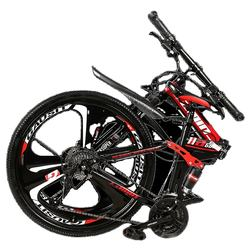 Fast Shipping Folding Road Bicycle 24/26 Speed 2 Hybrid Power Carbon Steel Frame Road Bike Double Disc Brake Bicycle Mountain