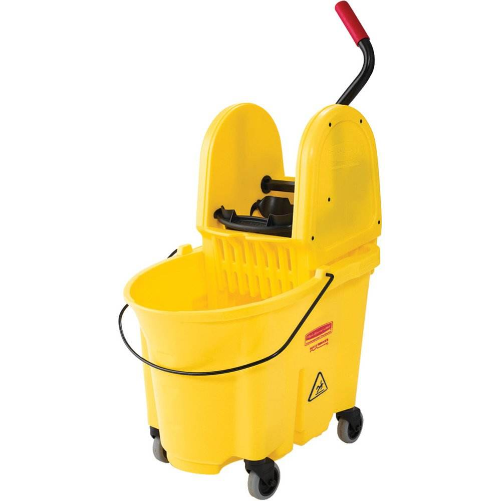 New housekeeping wringer trolley squeeze mop bucket