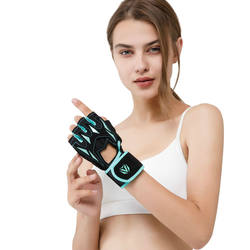 Wholesale Anti Slip Breathable Fingerless Sport Training Workout Weightlifting Gym Fitness Gloves