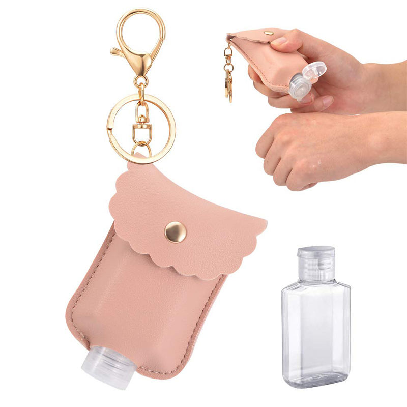 Holder Hand Sanitizer New Design 50Ml Silicone Wristband Pvc Monogrammed Pu Leather Hand Sanitizer Holder Pouch With Key Holder