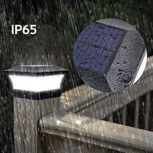 Solar Post Lights Outdoor IP65 Waterproof LED Post Garden Lights for 4*4ft Square Black Landscape Post Lamp for Fence Patio