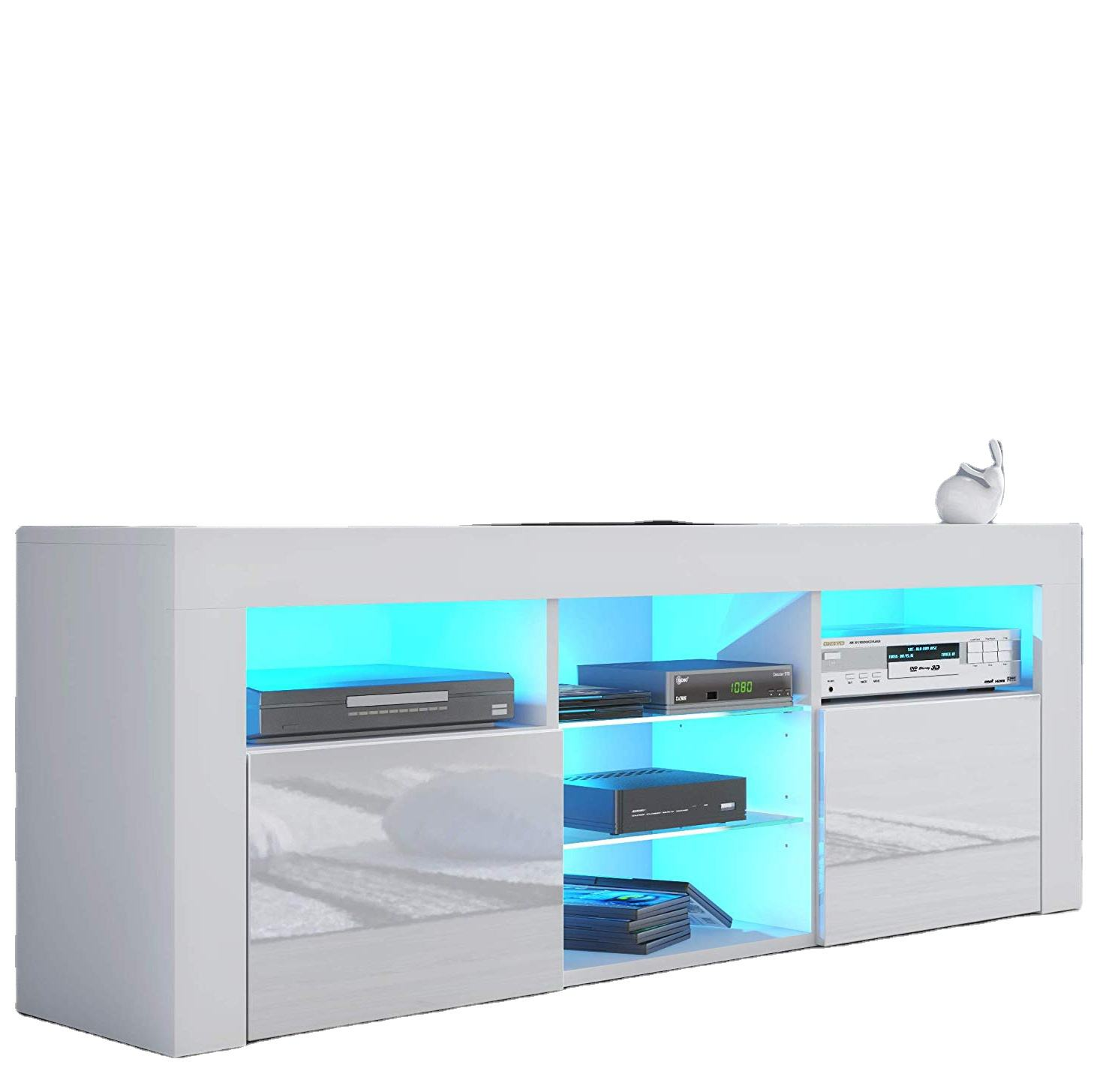Modern TV Stand for Living Room TV Entertainment Center with LED Light
