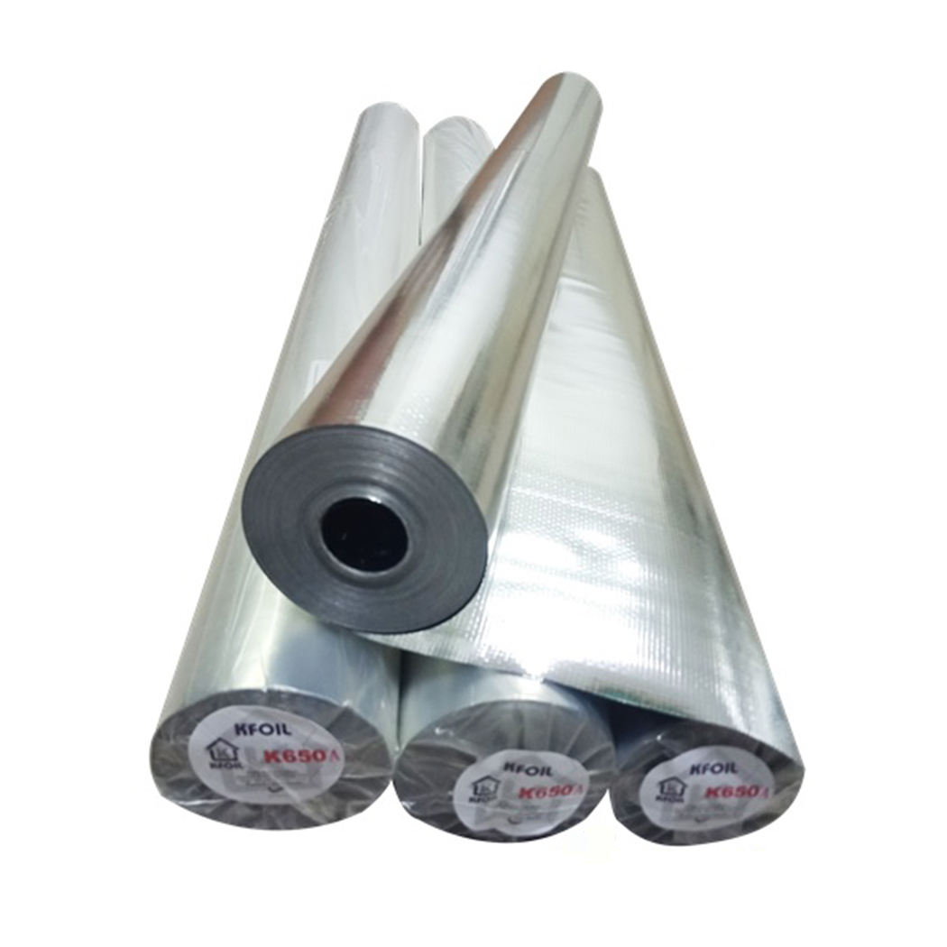 K Foil Recommended Heat Insulation Double Sided Reflective Metalized Woven Film Materials for Metal Concrete Clay Roofing
