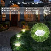 New 12 Led solar garden disk light IP67 waterproof solar lawn deck light warm white outdoor solar ground light for pathway,patio