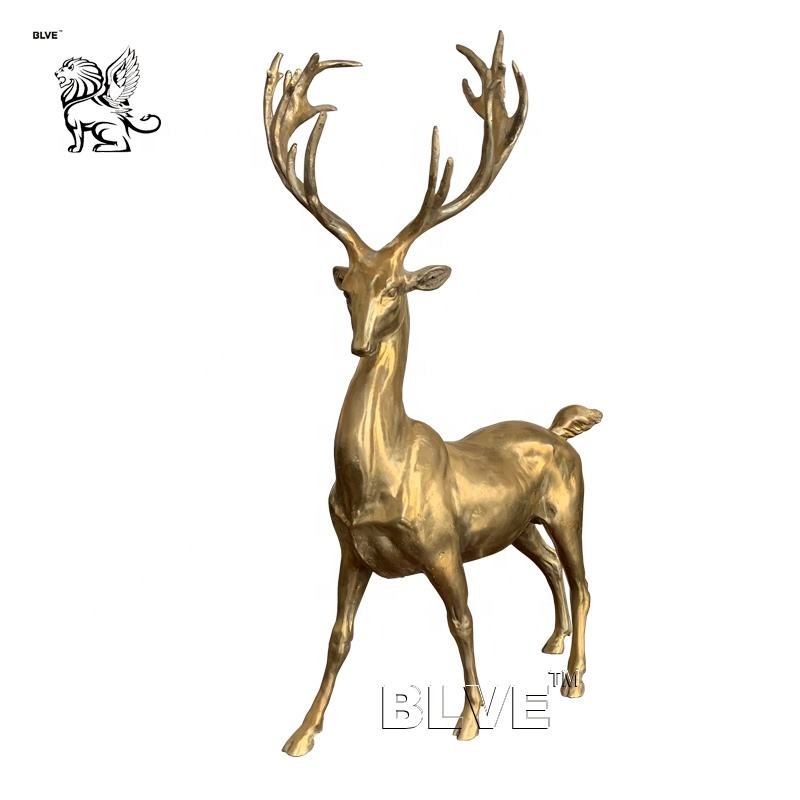 hot sale table pendulum decor small size brass animal statue bronze deer sculpture