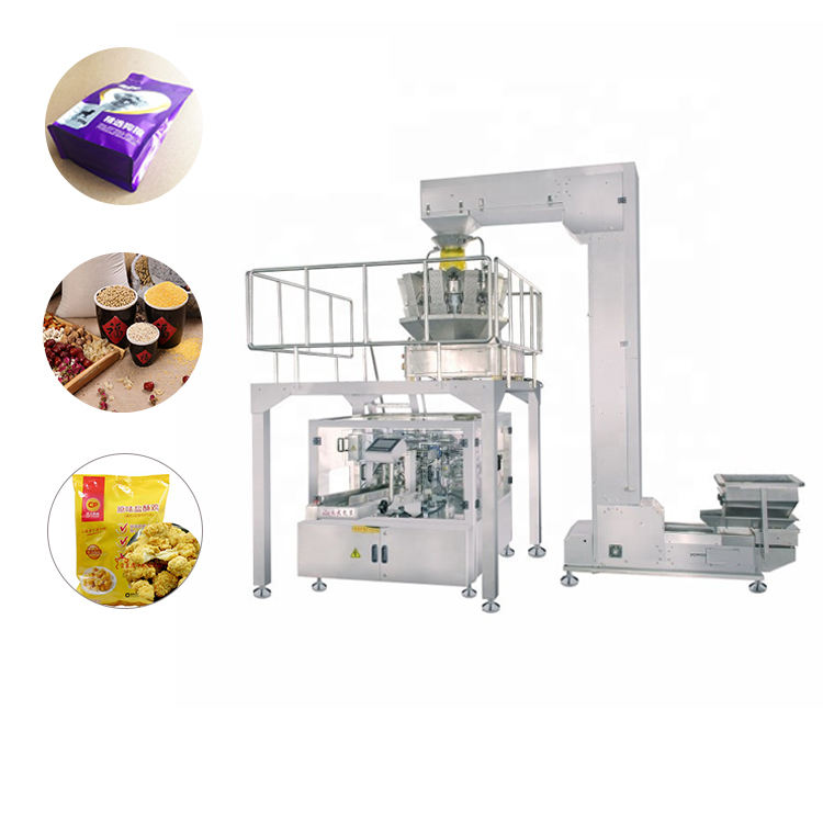 Dry Fruit Packaging Machine Multi-Function Food Sachet Dry Fruit Chips Automatic Pouch Pet Food Grain Pop Corn Sugar Peanut Packing Machine