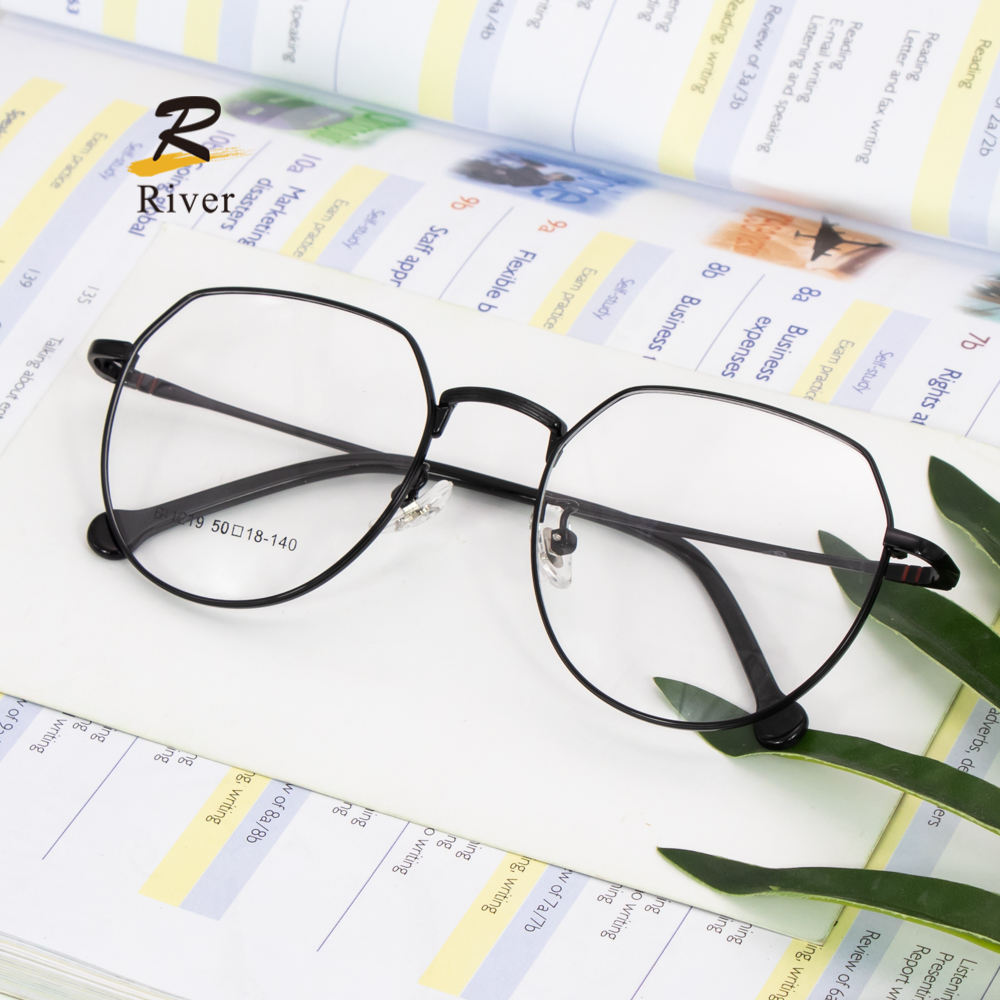 Wholesale Custom Polygon Metal Spectacle Eye Glasses Frames For Women