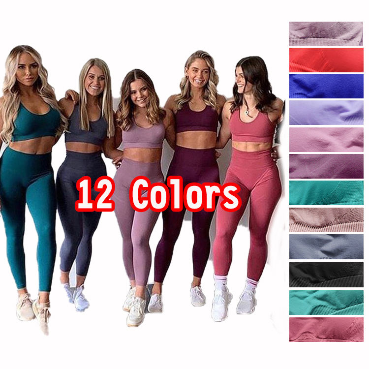 Activewear Two Piece Set Women Seamless Yoga Leggings And Bra Camouflage Fitness Sports Gym Workout Yoga Set