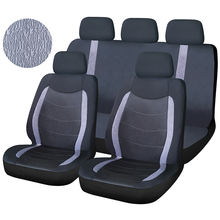 Factory Customized Price 9pcs Full Set Polyester Fabric Material Wellfit Interior Universal Car Seat Cover