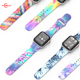 Unisex Gorgeous Print Custom Silicone Sport Watch Band Color Print Strap Wristband Replacement Band for Apple watch