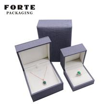 FORTE Pu leather jewelry box organizer velvet jewellery box with custom material