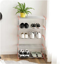 Detachable thickened stainless steel shoe rack shoe cabinet