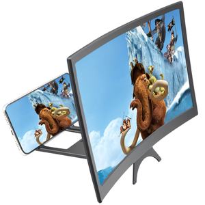12 Inch Desktop Folding HD Video Image Holder Stand 3D Enlarged Curved Mobile Phone Screen Magnifier Amplifier