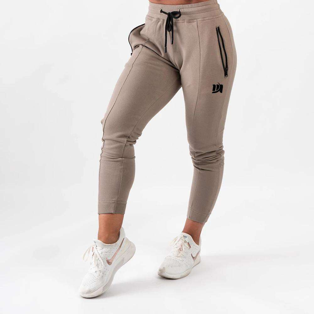 MS high quality skinny fit sports joggers women tapered cotton drawstrings sweat pants for running