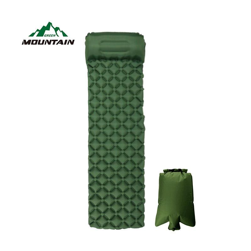 Зеленый ТПУ Материал Спорт на открытом воздухе надувные подушки двойной цвет коврики воздуха кровать коврик с завышенной сумк