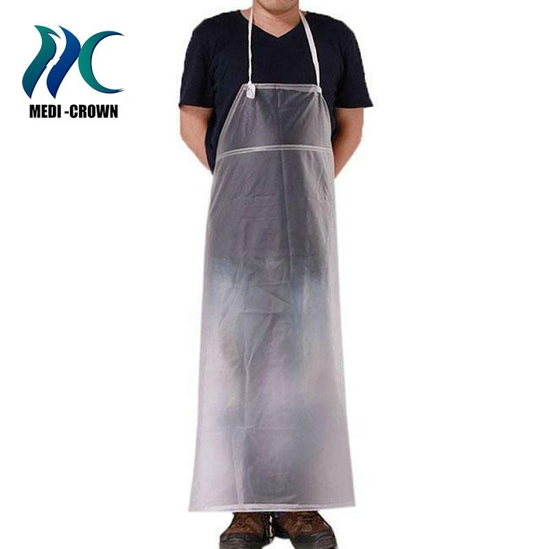 CE ISO approved nail tech short ldpe apron