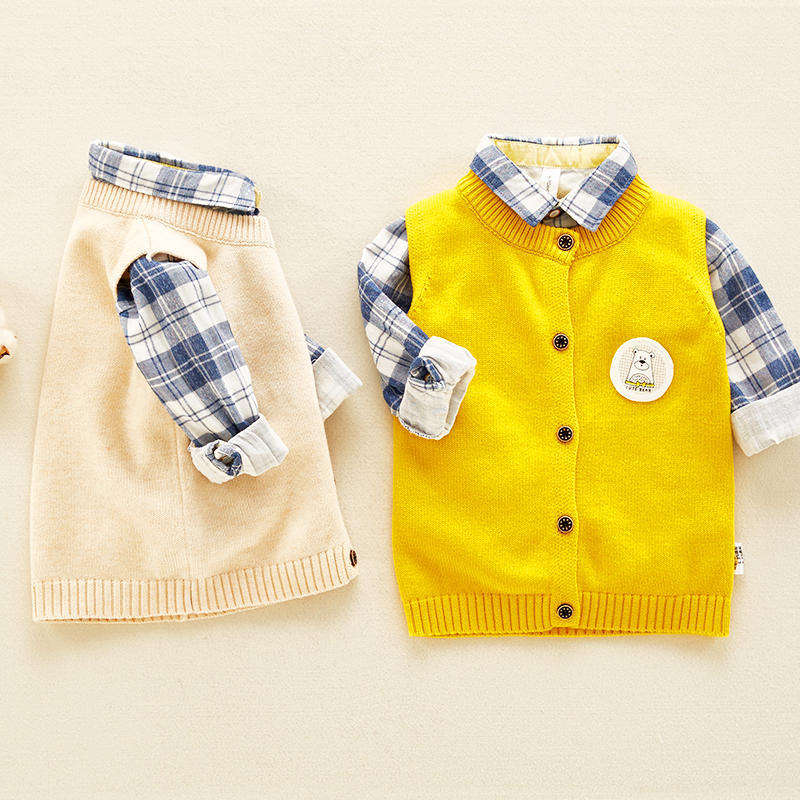 Wholesale Kids Baby Warm Cute Dress Clothing Newborn Baby Organic Cotton Dresses For 6 to 9 Months