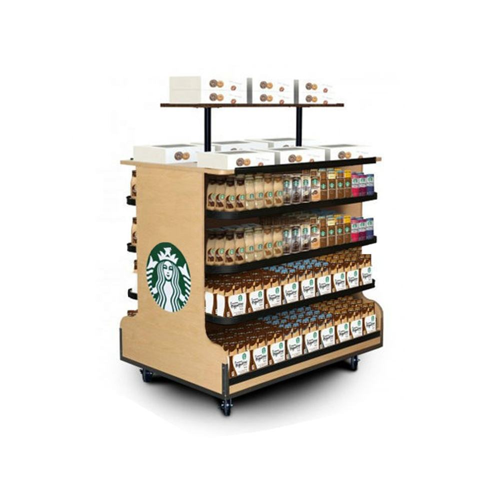 POP Display Merchandiser Rack de Madeira de Varejo