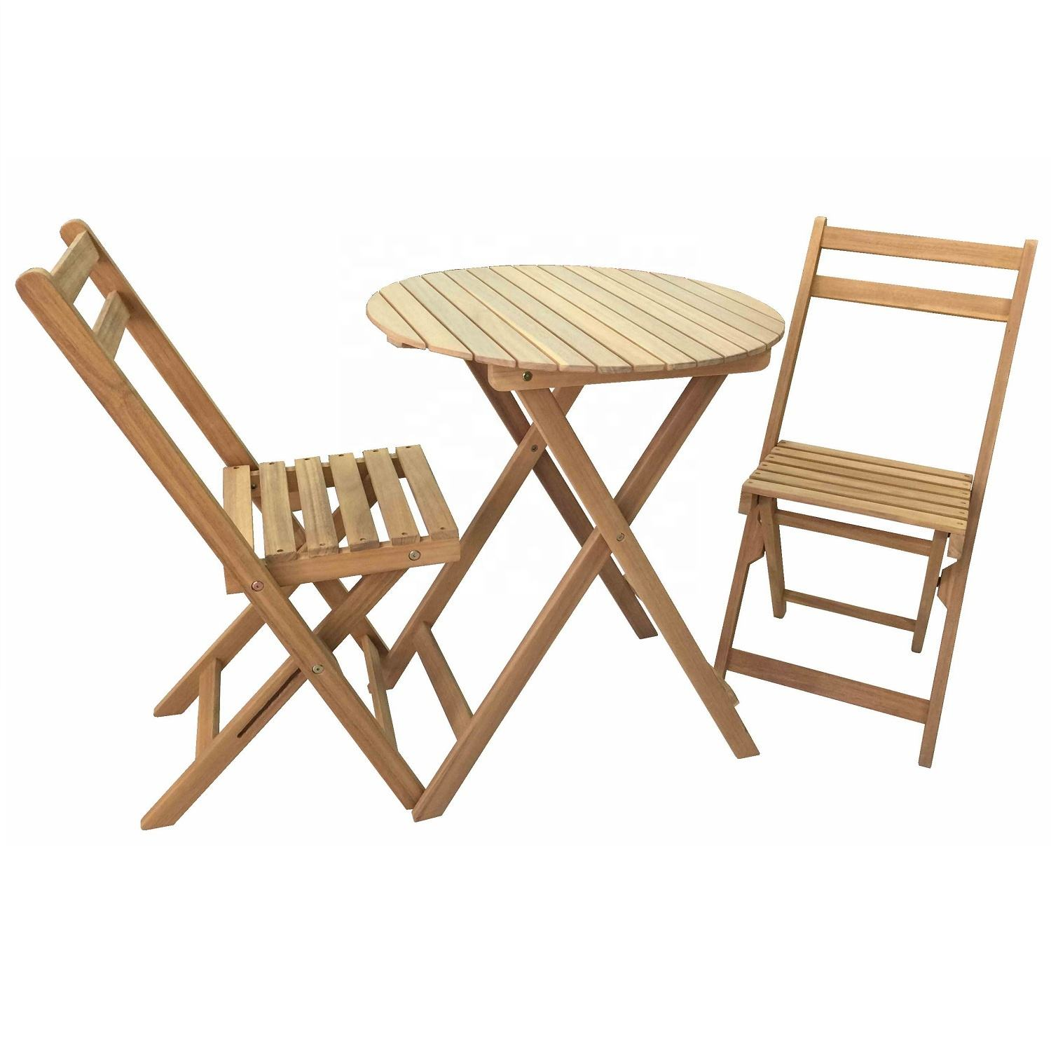 VIET NAM MODERN GARDEN WOODEN BISTRO SET OUTDOOR IN TEAK LOOK