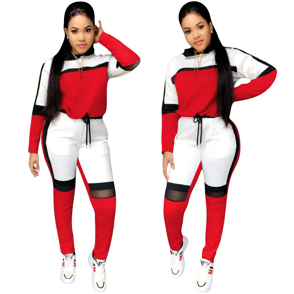 2020 Fashion Casual Pullover Joggers Women Track Suit 2 Piece Hoodie Set Fall Clothing Women