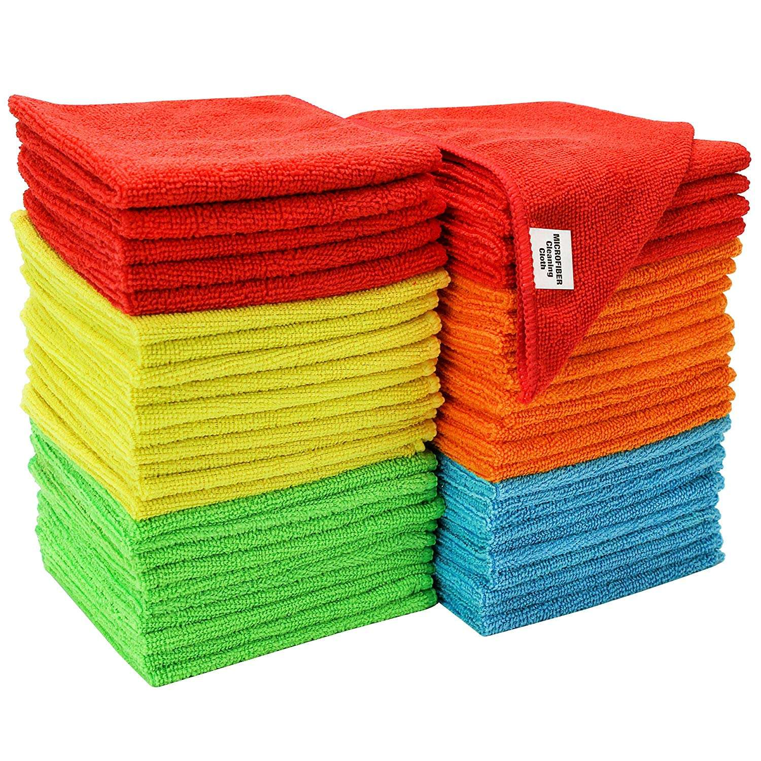 Assorted Microfiber Cleaning Cloth Car Wash Cloth Chemical Free Kitchen Towel, Clean Windows & Cars 30*30cm,240gsm