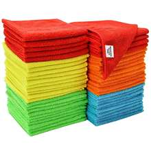 Assorted Microfiber Cleaning Cloth Car Wash Cloth Chemical Free Kitchen Towel, Clean Windows & Cars 30*30cm,200gsm