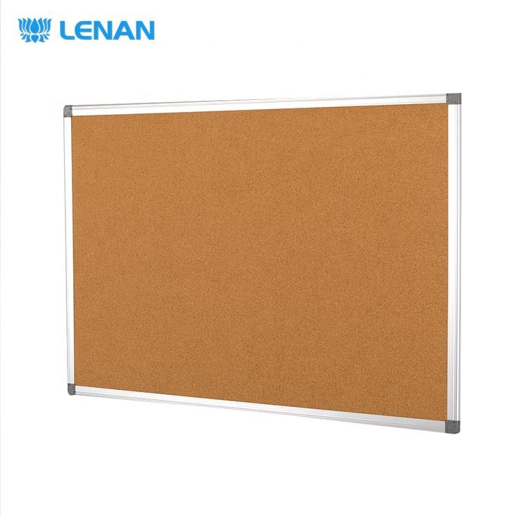 Wall Mounted Aluminum Frame School Office Soft Board Decoration Push Pin Message Notice Board Bulletin Cork Board