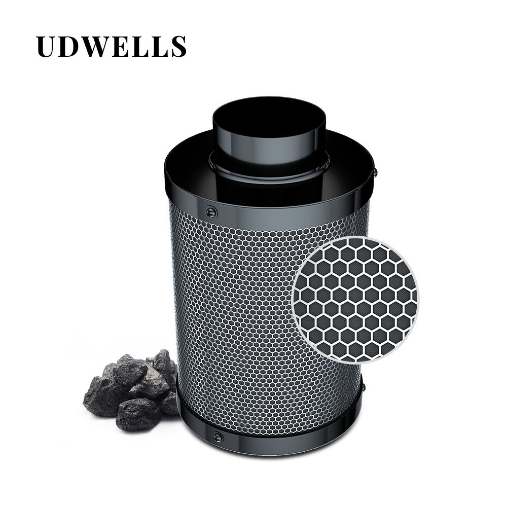 Udwells Hydroponic 4 5 6 8 10 12 14 inch Inline Grow Kit Activated Air Carbon Filter for grow room