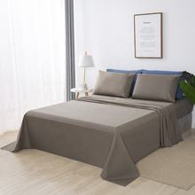 Factory supply Hot Sale Hotel Series 100% polyester microfiber Plain Dyed Bed Sheet Set