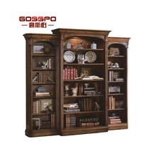 American Antique Design Bookshelf Cabinet Discount Solid Wood Bookcases