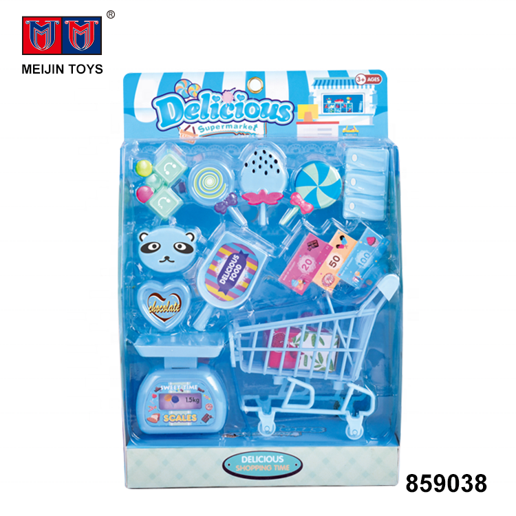 wholesale shopping cart plastic supermarket candy shop toys