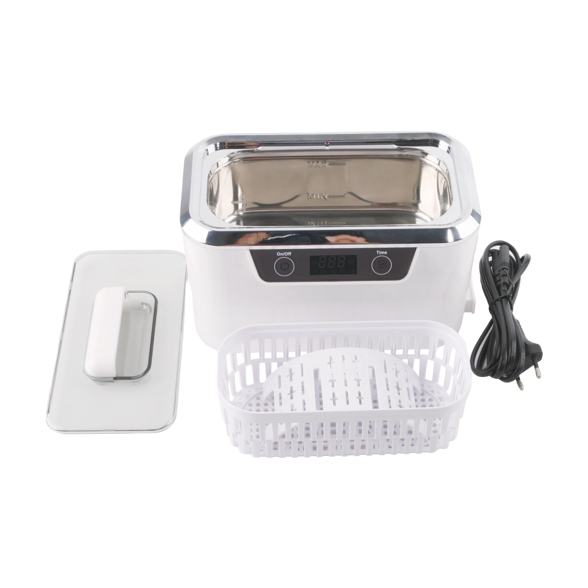 Professional Ultrasonic Jewelry Cleaner with Digital Timer for Eyeglasses Rings Coins