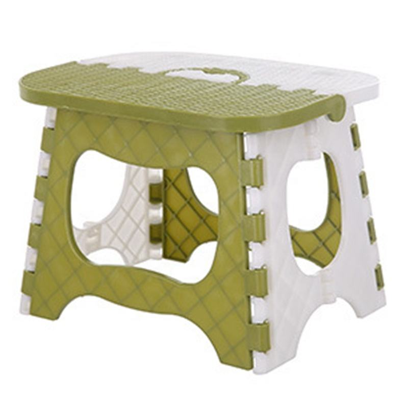 NHBR-Plastic Folding Stool Thickening Chair Portable Home Furniture Children Convenient Dining Stool