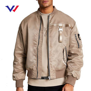 Custom logo thick jacket coat mens outdoor jackets winter 100% polyester satin bomber jacket for men chaqueta