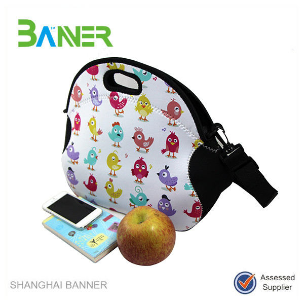 Promotional OEM printing neoprene insulated adult byo neoprene lunch bag
