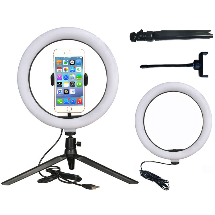 Funipca 10 inch selfie ring light mobile with phone holder