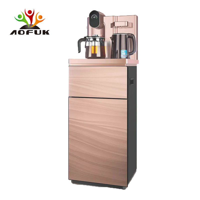 Champagne gold commercial hot and cold water dispenser with compressor cooling tea bar water dispense