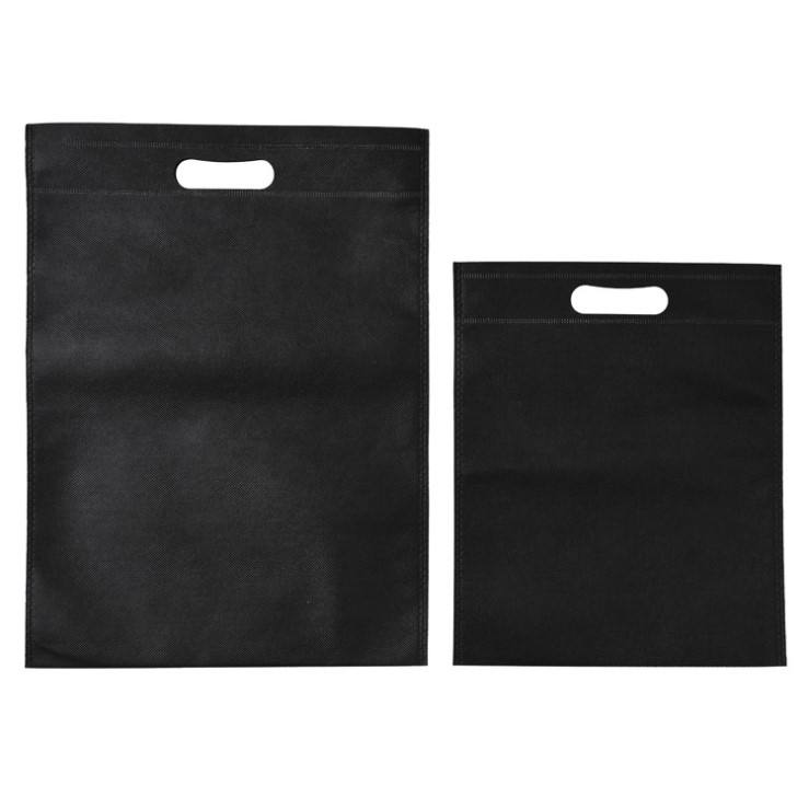 Cheap custom printed recyclable d-cut non woven fabric carry bag with logo