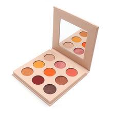 2020 new arrivals makeup palette white eye palette shadow custom logo 9 color eyeshadow palette