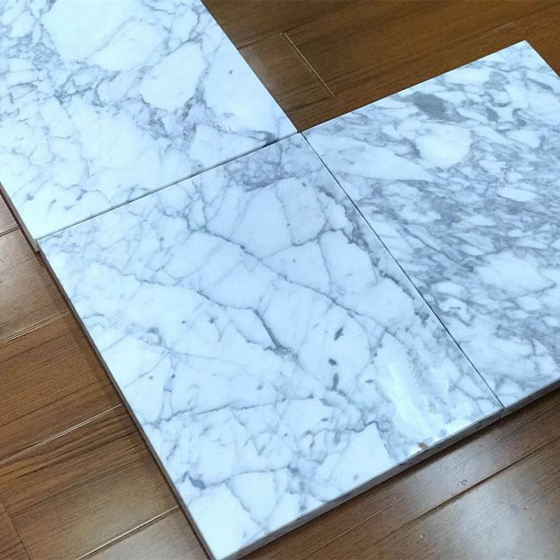 Natural marble and White Carrara tiles for building materials in villa hotels flooring from Foshan stone