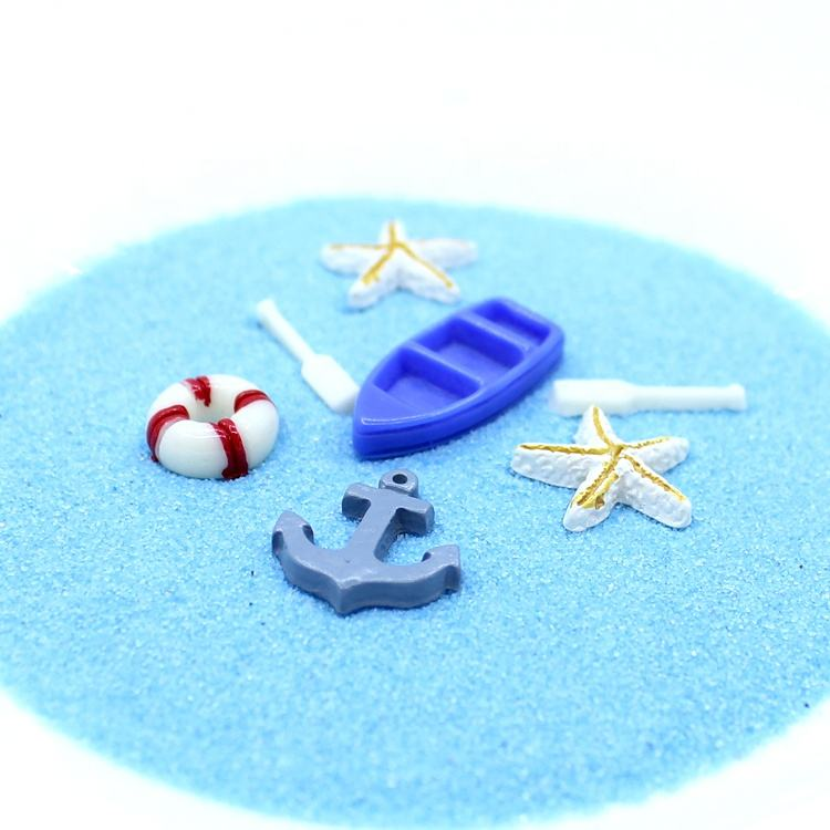 Sea Theme Life Buoy Starfish Boat Anchor Flat Back Resin Cabochon For DIY Decoration