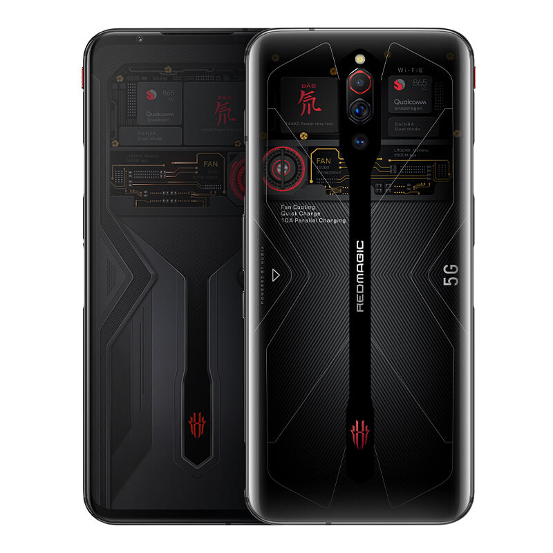 Global Rom ZTE Red magic 5G Gaming Mobile Phone Android 10 QSD 865 6.65''AMOLED Turbo 64MP Fingerprint 4500mah